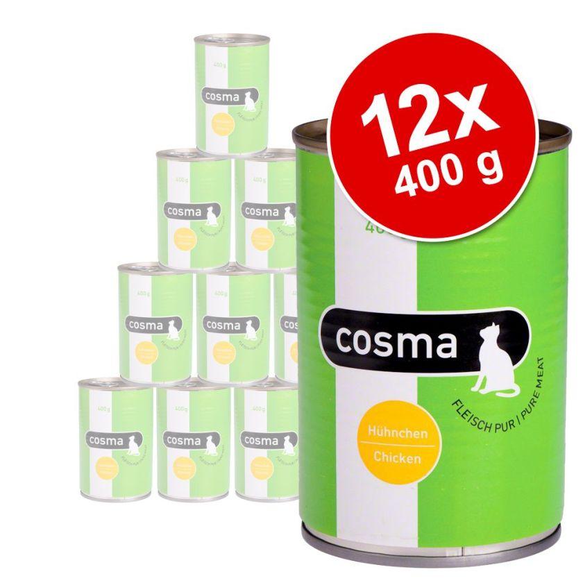 Lot Cosma Original en gelée 12 x 400 g pour chat - poulet