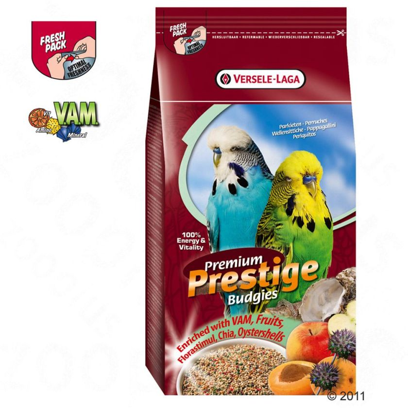 Nourriture Prestige Premium pour perruche - 2 x 2,5 kg