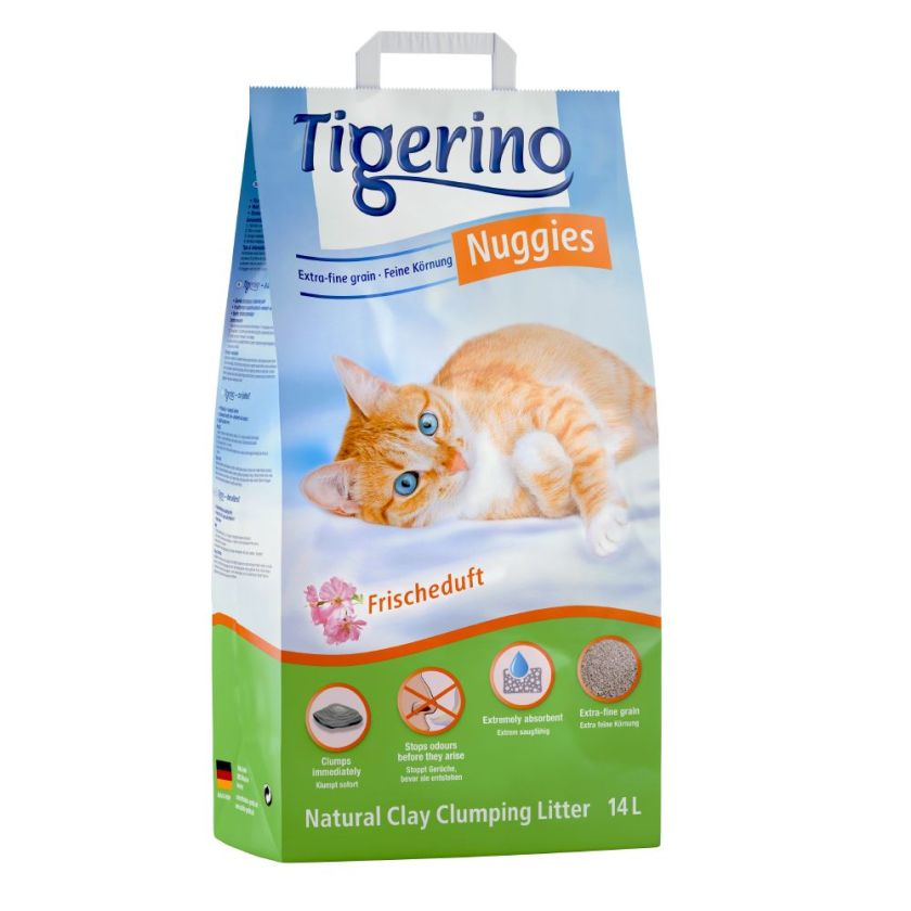 2x14 L Litière Tigerino Nuggies Fresh pour chat