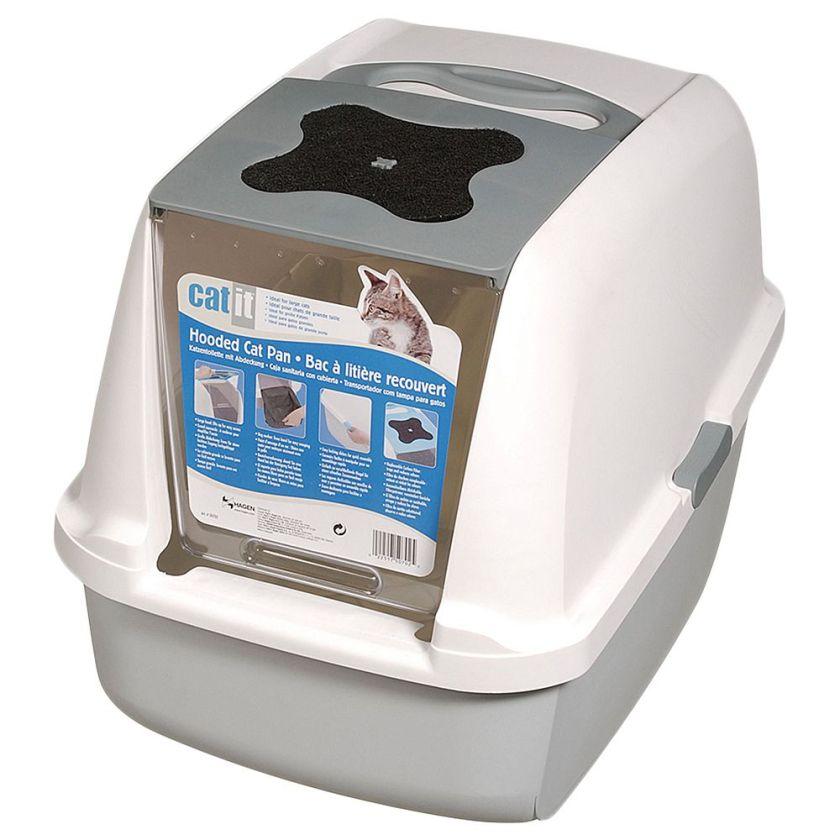 Maison de toilette CatIt pour chat - blanc / rose