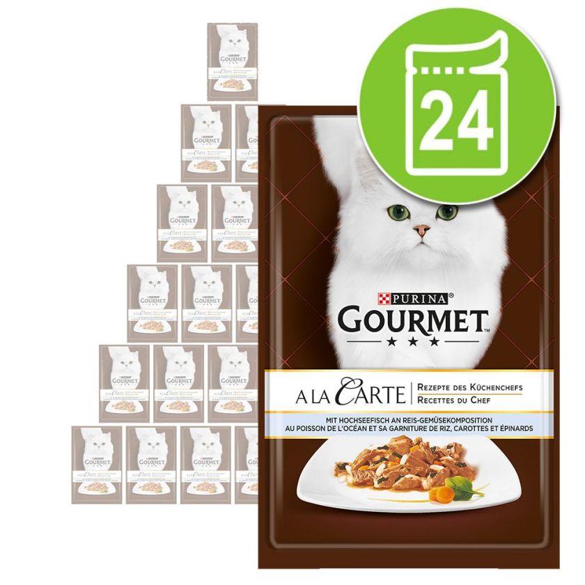 Gourmet A la Carte Truite & légumes du jardin 24 x 85 g - Sachets fraîcheur pour chat Gourmet