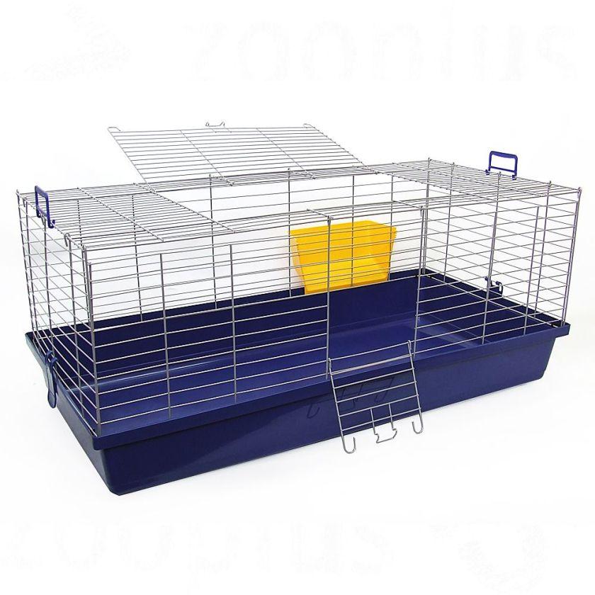Cage Skyline Maxi XXL pour lapin et cochon d'Inde - L119 x l59 x H47 cm