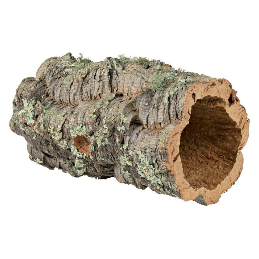 Tunnel en liège pour lapin nain, rongeur et reptile 14-19cm de diamètre