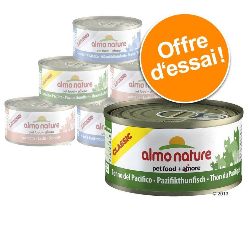 Offre découverte Almo Nature 6 x 70 g, 3 variétés pour chat - assortiment aux légumes