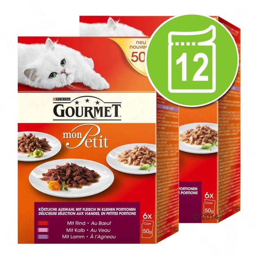 12x50g Duetti viande et poisson Gourmet - Nourriture pour Chat