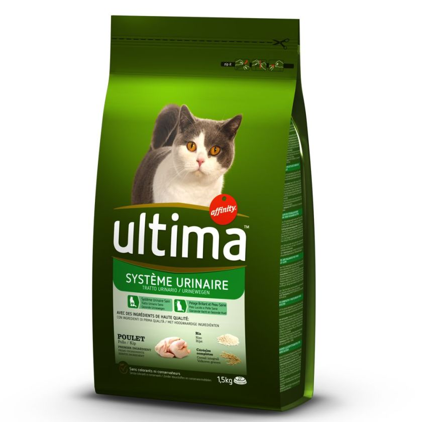 7,5kg Système Urinaire Ultima pour chat - Croquettes pour chat