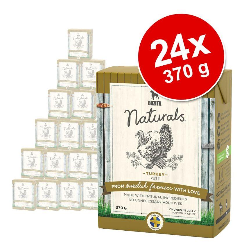 Bozita Naturals Bouchées en gelée 24 x 370 g pour chien - poulet, riz