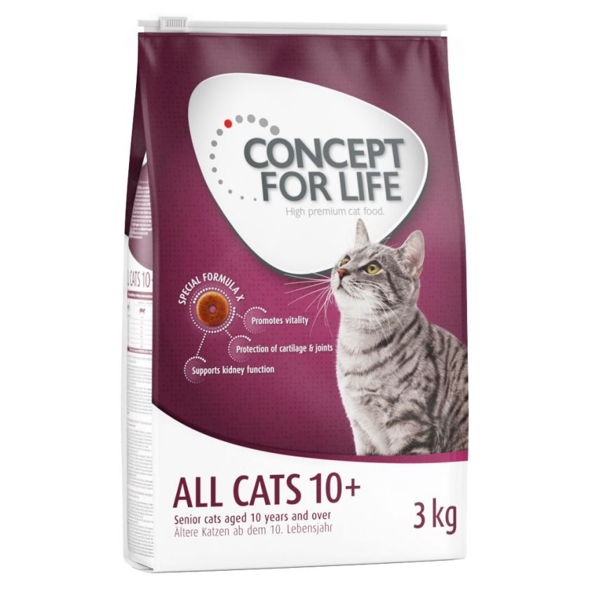 9kg All Cats 10+ Concept for Life - Croquettes pour Chat