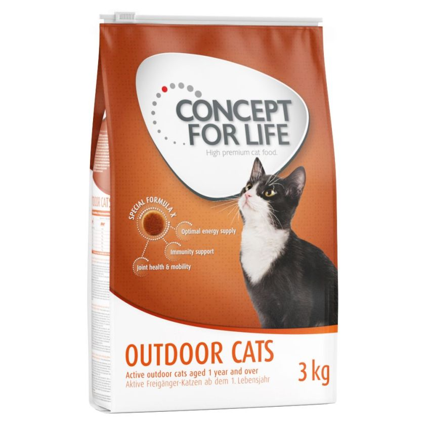 3kg Outdoor Cats Concept for Life - Croquettes pour Chat