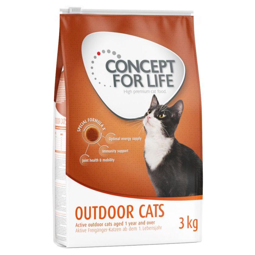 9kg Outdoor Cats Concept for Life - Croquettes pour Chat