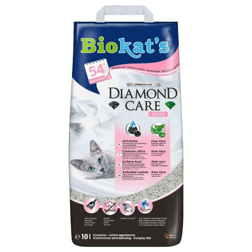 10L Diamond Care Fresh Biokat´s Litière pour chat
