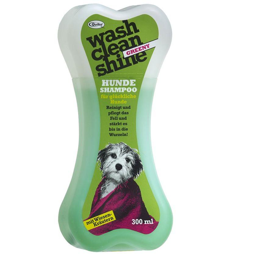 Quiko Wash Clean Shine Greeny Shampooing pour chien - 2 x 300 mL