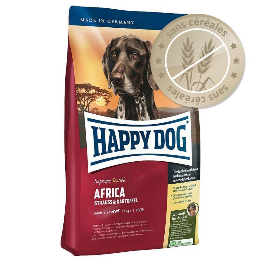 Happy Dog Supreme Sensible Afrique, autruche & pommes de terre - 4 kg