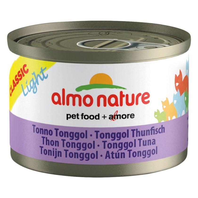 Almo Nature Light 6 x 50 g pour chat - poulet, thon Bonito