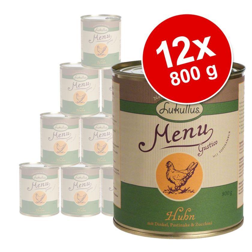 12x800g Menu Gustico sensitive au bœuf Lukullus - Nourriture pour chien
