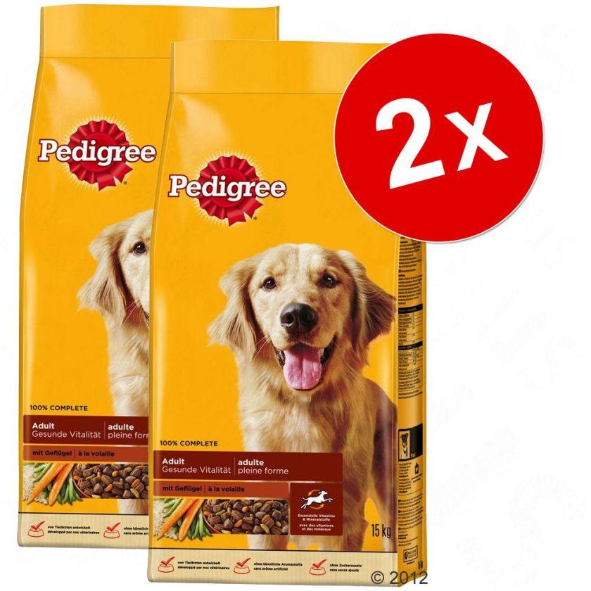 2x15kg Adult bœuf légumes Pedigree - Croquettes pour chien