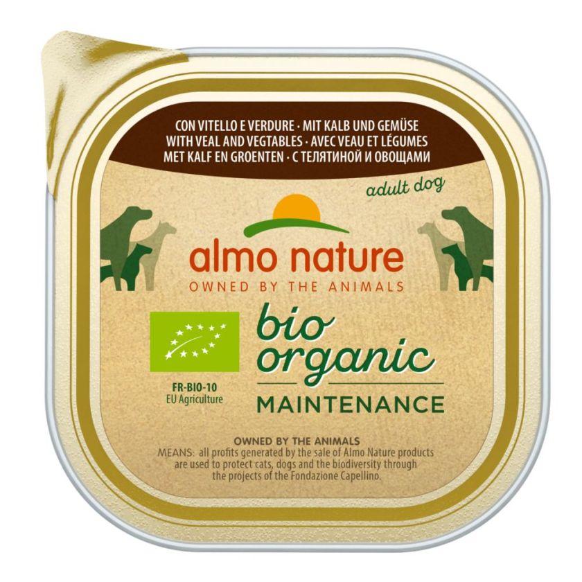 9x300g Dailymenu Bio Adult Almo Nature Barquettes pour chien Poulet/pommes de terre