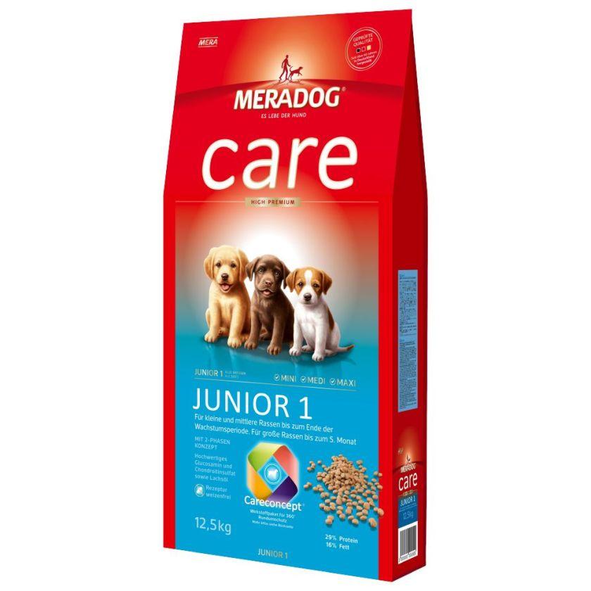 Meradog Care High Premium Junior 1 pour chien - 2 x 12,5 kg
