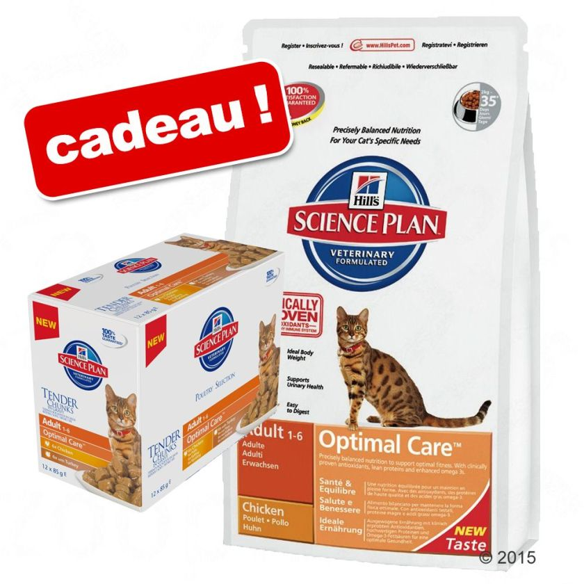 Croquettes Hill´s Science Plan 5/8/10 kg + 12 sachets offerts ! - Sensitive Stomach Adult (5 kg)