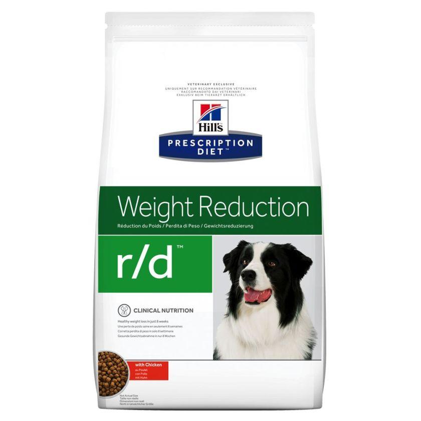 4kg r/d Weight Reduction Hill's Prescription Diet Croquettes pour chien