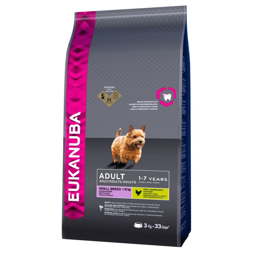 Eukanuba Adult Small Breed poulet pour chien - 2 x 7,5 kg