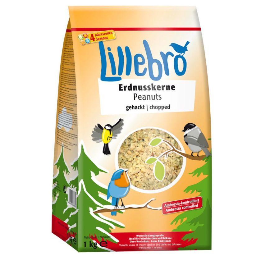 Graines d´arachide concassées Lillebro pour oiseaux sauvages - 1 kg