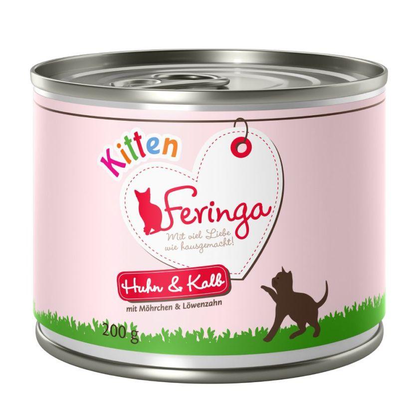6x200g Kitten dinde Feringa - Nourriture pour Chat