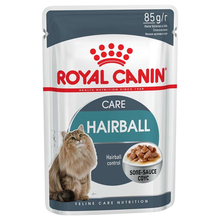 48x85g Hairball Care en sauce Royal Canin - Sachets et Boîtes pour Chat