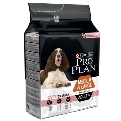 Pro Plan Medium & Large Adult 7+ Sensitive Skin saumon, riz - 14 kg