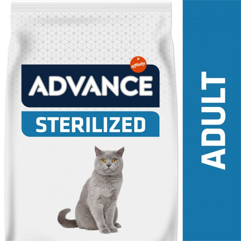 3kg Sterilized Advance Dinde/orge Croquettes pour chat