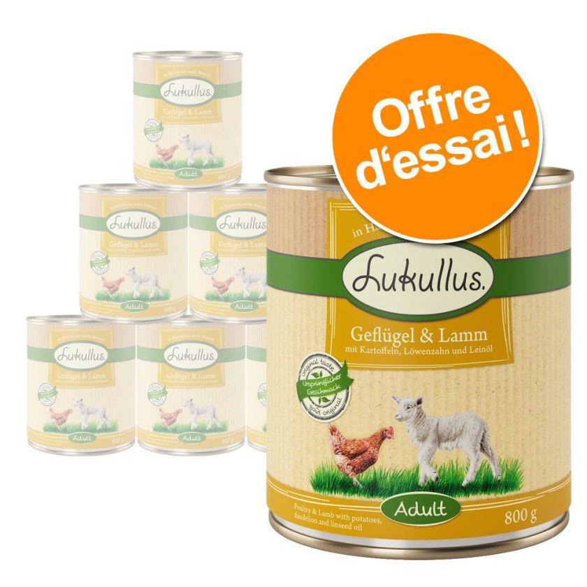 6x800g 6 saveurs Lukullus - Aliment pour Chien