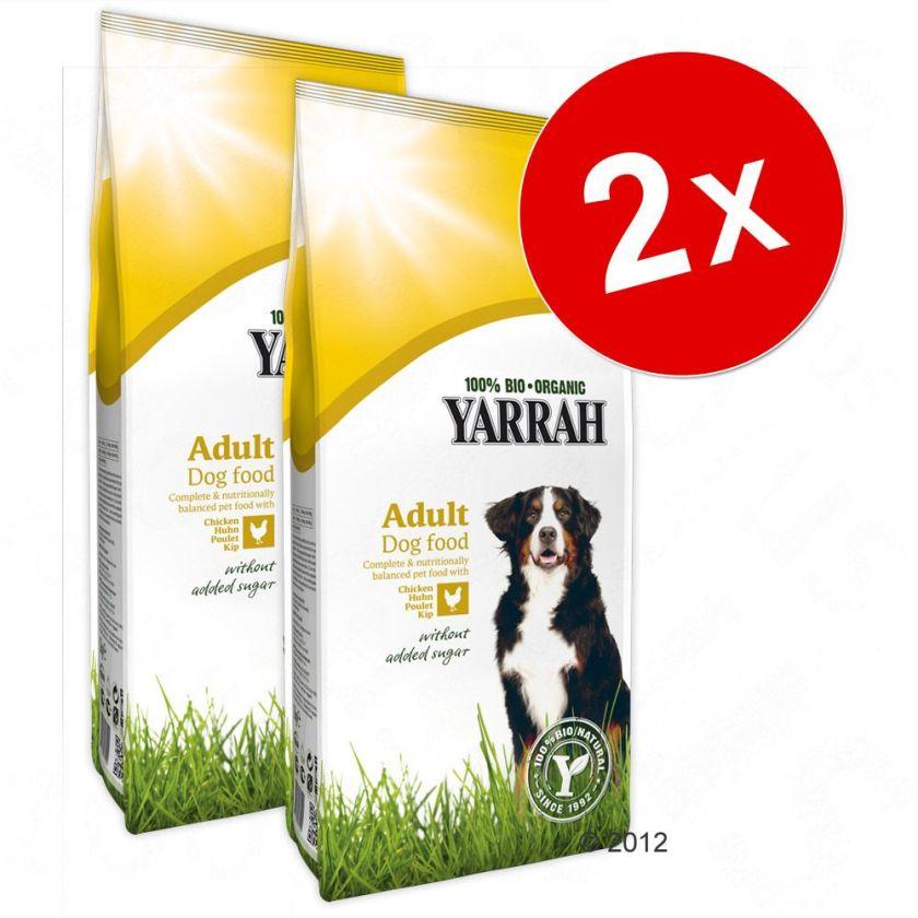 Lot Yarrah bio pour chien - végétariennes (2 x 10 kg)