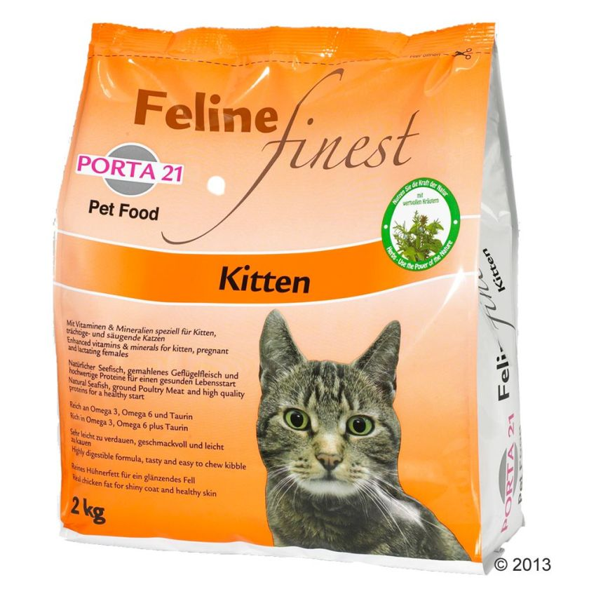Porta 21 Feline Finest Kitten pour chaton - 3 x 2 kg