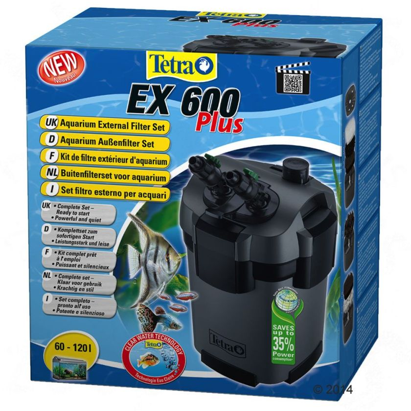 Tetra EX Plus Filtre extérieur d´aquarium - EX 600 Plus, aquarium de 60 à 120 L