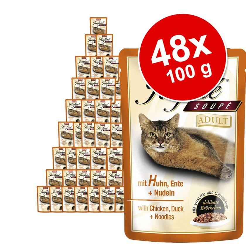 Lot Animonda Rafiné Soupé 48 x 100 g pour chat - Adult poulet, canard, pâtes