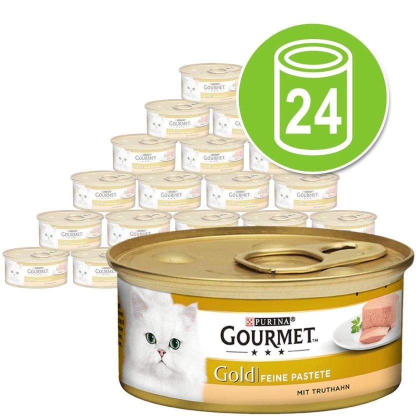24x85g Les Mousselines colin, carottes Gourmet - Nourriture pour Chat