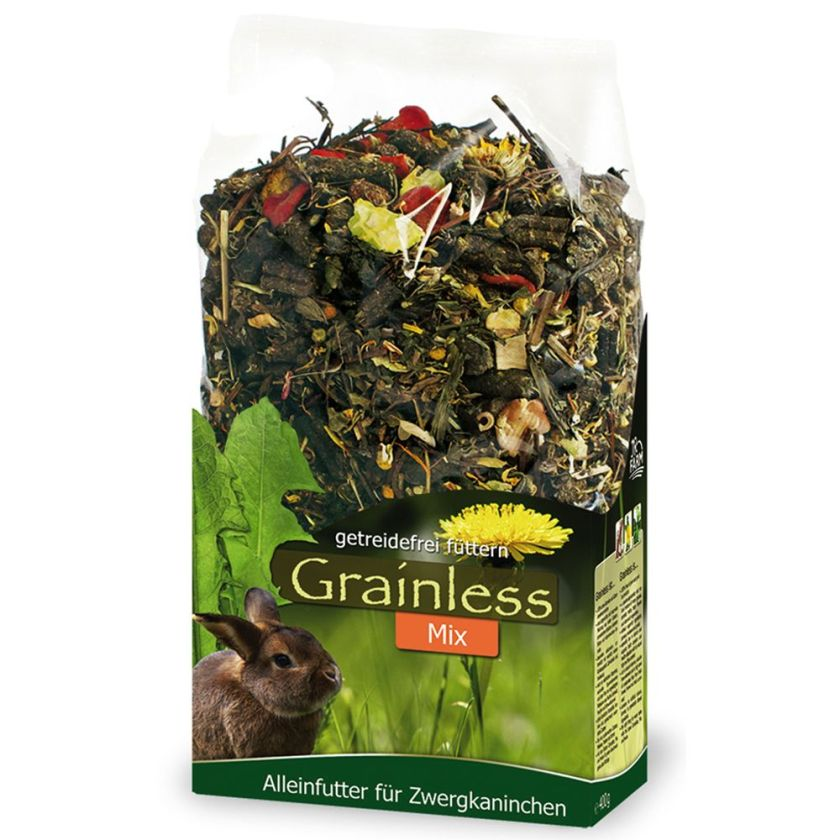 2x1,7kg JR Grainless Mix lapin nain sans céréales JR Farm - Nourriture Lapin