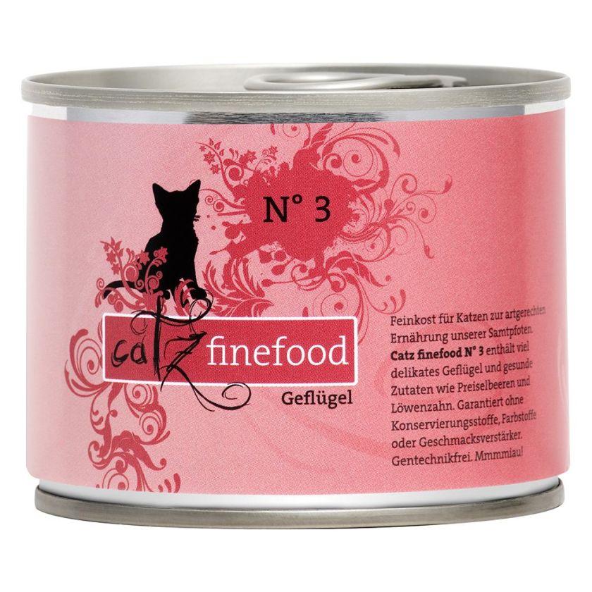 6x200g volaille, crevettes Catz finefood - Nourriture pour Chat