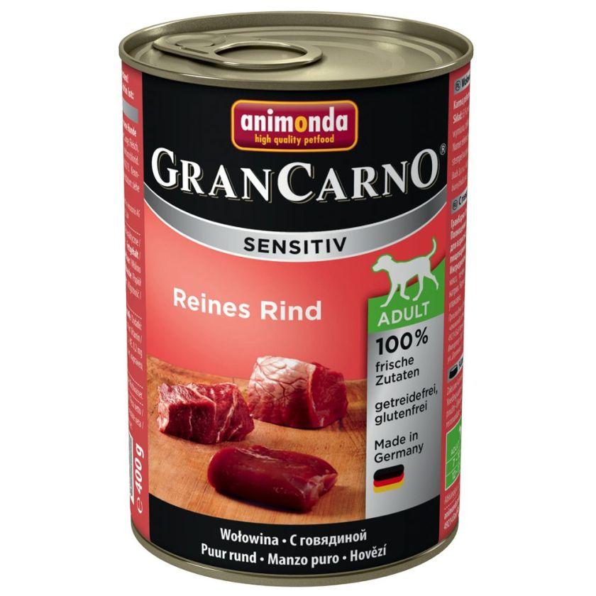 6x400g Sensitive pur poulet Animonda GranCarno - Nourriture pour chien