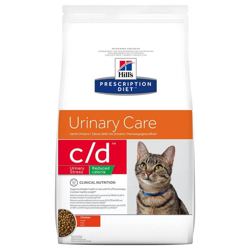 2x8kg c/d Urinary Care poulet Hill's Prescription Diet - Croquettes pour Chat