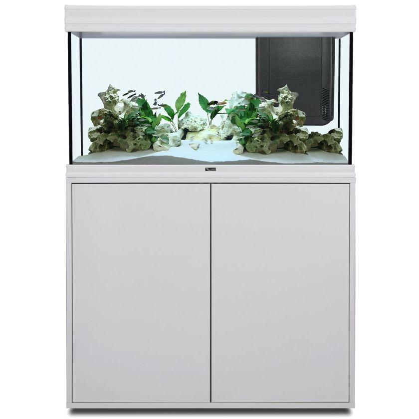 Ensemble aquarium/sous-meuble Aquatlantis Fusion 100 LED - aspect chêne