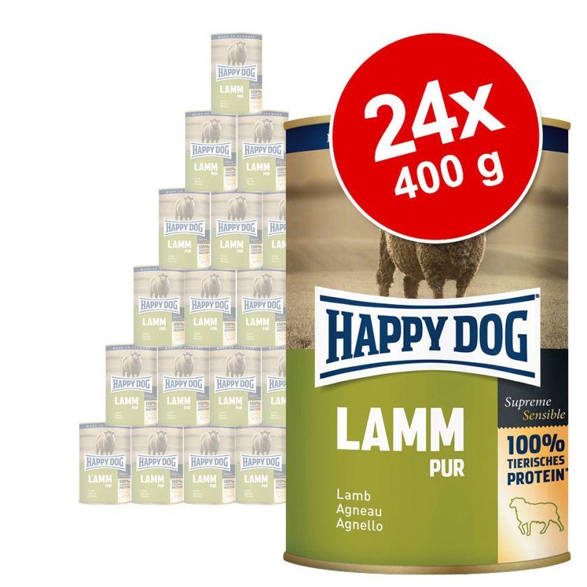 24x400g pur gibier Happy Dog - Nourriture pour chien