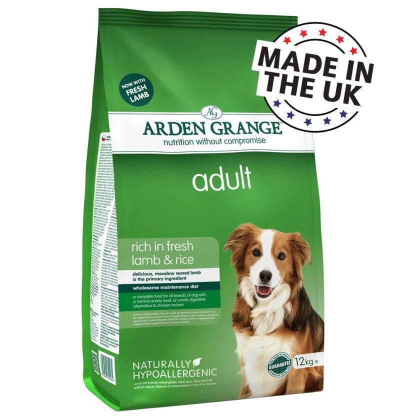12kg Adult Arden Grange Agneau/riz Croquettes pour chien