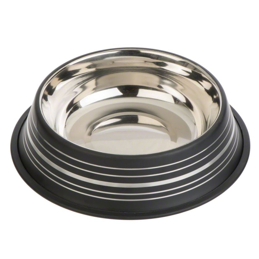 Gamelle Silver Line, noir mat pour chat - capacité 450 mL, 20 cm de diamètre