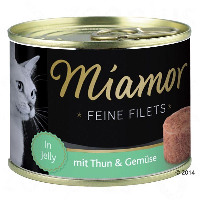6x185g Filets Fins thon, riz en gelée Miamor - Nourriture pour Chat