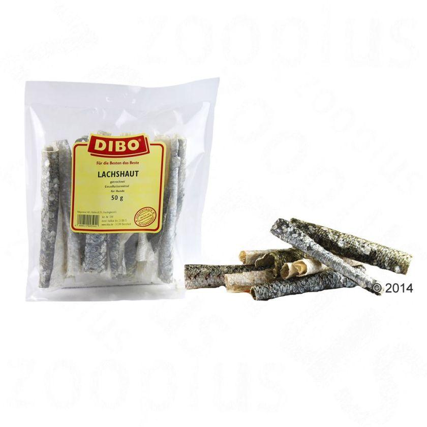50g Peau de saumon séchée Dibo pour chien - Friandises pour chien