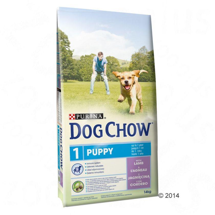 Purina Dog Chow Puppy, agneau, riz pour chiot - 2 x 14 kg