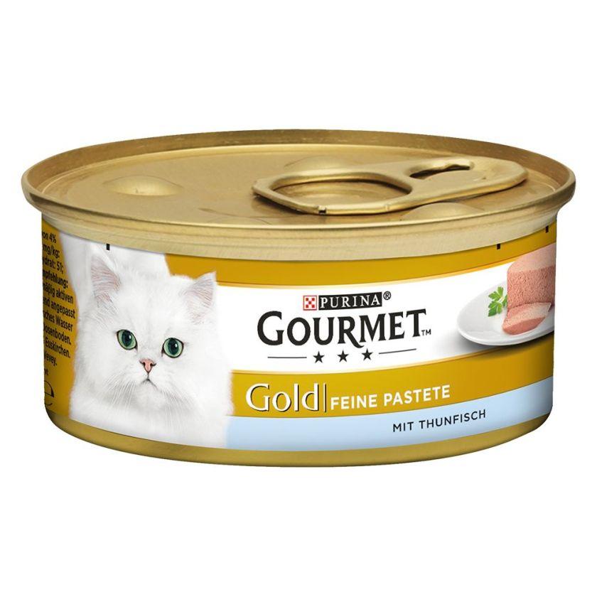 12x85g Les Mousselines colin, carottes Gourmet - Nourriture pour Chat