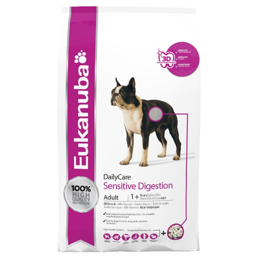 2x12,5kg Sensitive Digestion Daily Care Eukanuba - Croquettes chien