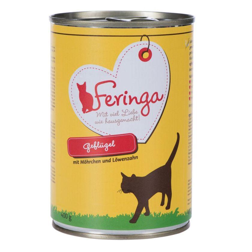 6x400g Menus Duo lapin, dinde, argousier, menthe à chat Feringa - Nourriture pour Chat